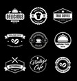 set of restaurant shop design elements in vintage vector image