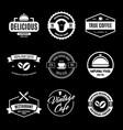 set restaurant shop design elements in vintage vector image vector image