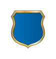 shield gold blue icon shape emblem vector image vector image