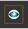 Simple stylish pixel eye icon design vector image vector image