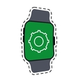 smart watch gear wearable technology line vector image