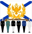 Soldiers and officers of the Russian fleet vector image vector image