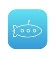 Submarine line icon vector image vector image