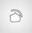 teapot outline symbol dark on white background vector image vector image