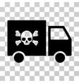toxic transportation car icon vector image vector image