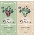 Two Vertical Banners With Wine Labels vector image