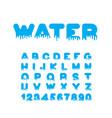 water liquid font aqua alphabet viscous letters vector image