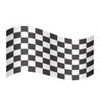 checkered racing flag waving on white background vector image