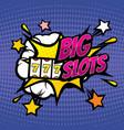 big slots retro casino gambling background vector image