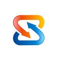 S letter circle arrow logo vector image