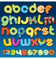 motley colorful cartoon font vector image