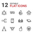 12 company icons vector image vector image