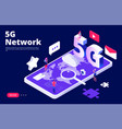 5g network concept global 5g wireless internet vector image vector image