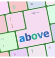 above on computer keyboard key enter button vector image vector image