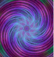 Abstract spiral fractal background vector image vector image