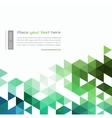 Abstract technology background with color triangle vector image vector image