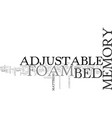adjustable bed memory foam old mattress will now vector image vector image