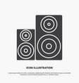 audio hifi monitor speaker studio icon glyph gray vector image