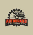 auto repair service logo with badge emblem vector image vector image