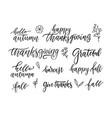 autumn and thanksgiving hand written brush vector image
