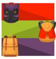 back to school kids backpack banner vector image vector image