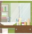 Bathroom Interior Closeup vector image