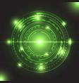 beautiful green glowing circle light vector image vector image