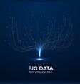 big data machine learning and data analysis vector image