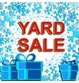 Big winter sale poster with YARD SALE text vector image vector image