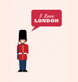 british army soldier with word i love london vector image vector image