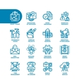 Business Fat Line Icon set vector image vector image
