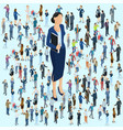 businesswoman big boss leader vector image vector image