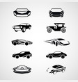 car logo icon set vector image vector image