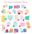 Christmas Countdown Calendar vector image vector image