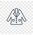 coat concept linear icon isolated on transparent vector image