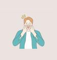 communication emotion face expression vector image