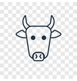 cow concept linear icon isolated on transparent vector image
