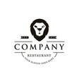 creative vintage retro hipster logo restaurant vector image vector image