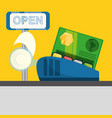 credit card payment shopping concept vector image vector image