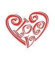 curly love vector image