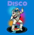 disco astronaut dances vector image