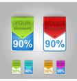 Discount banner vector image