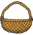 doodle wicker basket vector image vector image