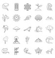 environ icons set outline style vector image vector image