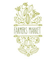 Farmers Market Sign vector image vector image