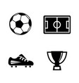 football simple related icons vector image