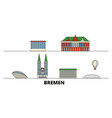 germany bremen flat landmarks vector image vector image