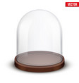 glass dome on white background vector image vector image