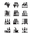 Grapes and wine icon set vector image vector image