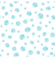 hand painted polka dot seamless pattern vector image